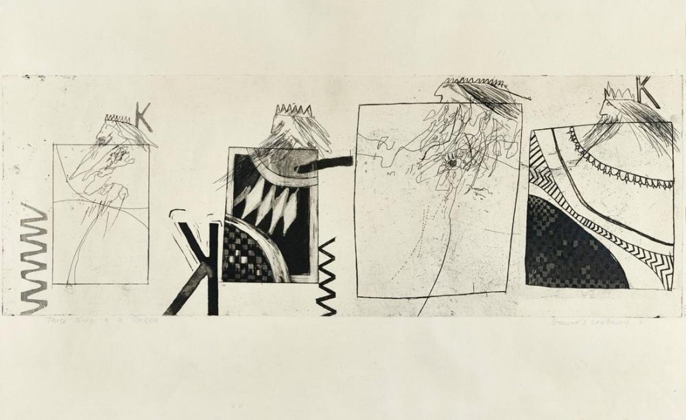 David Hockney, Three Kings and a Queen, Figure, David Hockney, kanvas tablo, canvas print sales