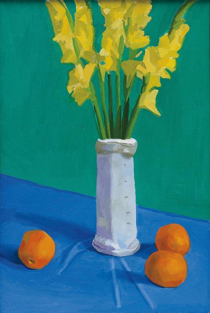 David Hockney, Three Oranges with a Vase, Canvas, David Hockney, kanvas tablo, canvas print sales