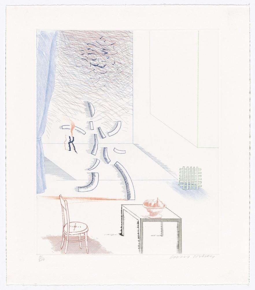 David Hockney, Tick it, Tock it, Turn it True from The Blue Guitar, Figür, David Hockney