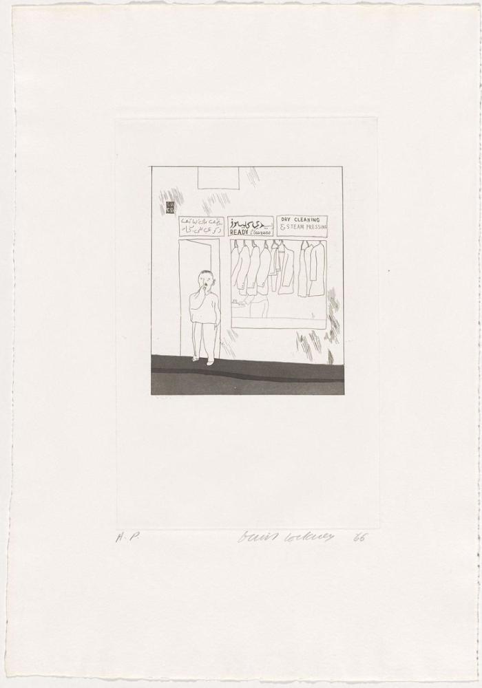David Hockney, To Remain 1966, Figür, David Hockney