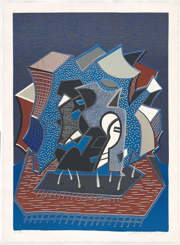 David Hockney, Très 1990, Kanvas Tablo, David Hockney