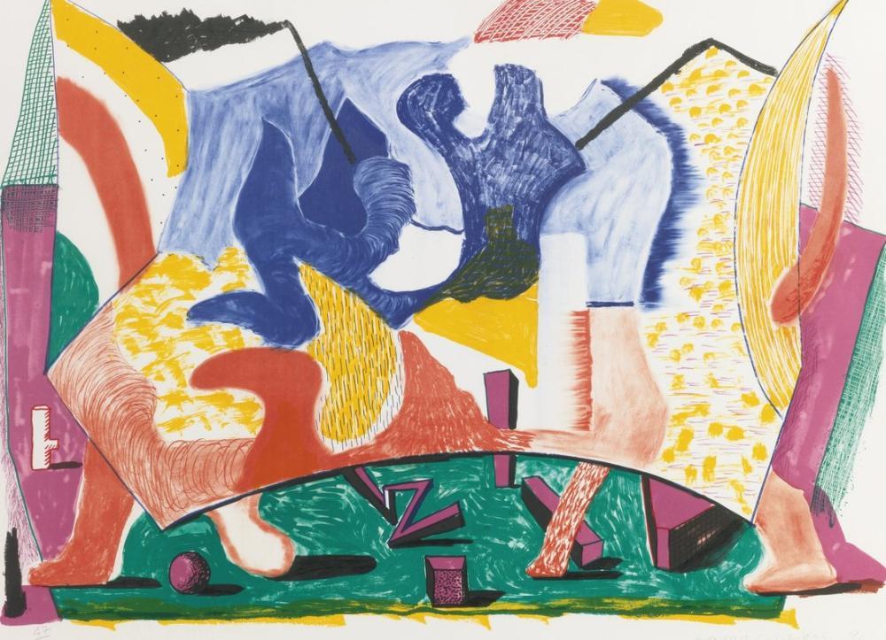 David Hockney, Oniki Onbeş, Kanvas Tablo, David Hockney