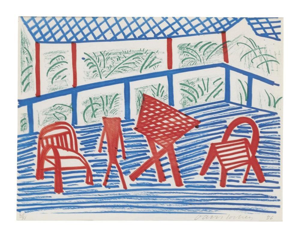 David Hockney, İki Sandalye, Figür, David Hockney, kanvas tablo, canvas print sales