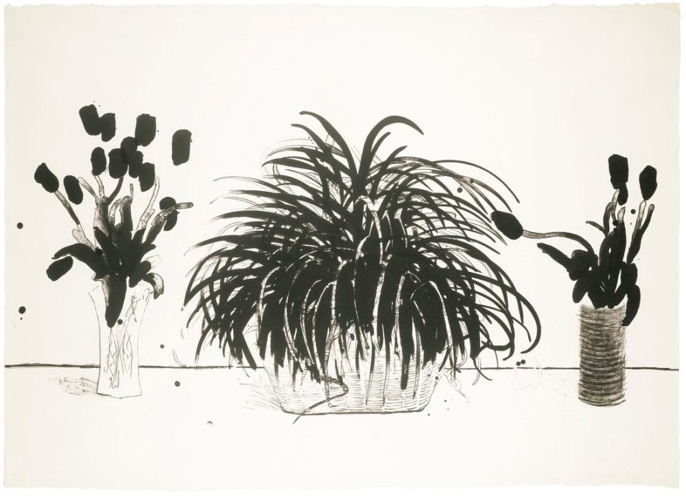 David Hockney, Kesme Çiçeklerin İki Vazosu, Figür, David Hockney