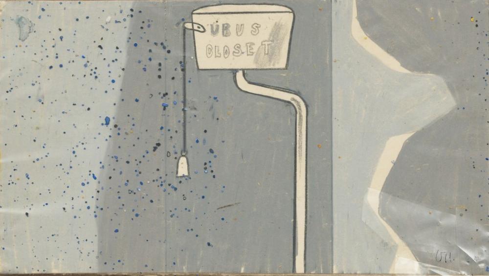 David Hockney, Ubu'nun Klozeti, Kanvas Tablo, David Hockney