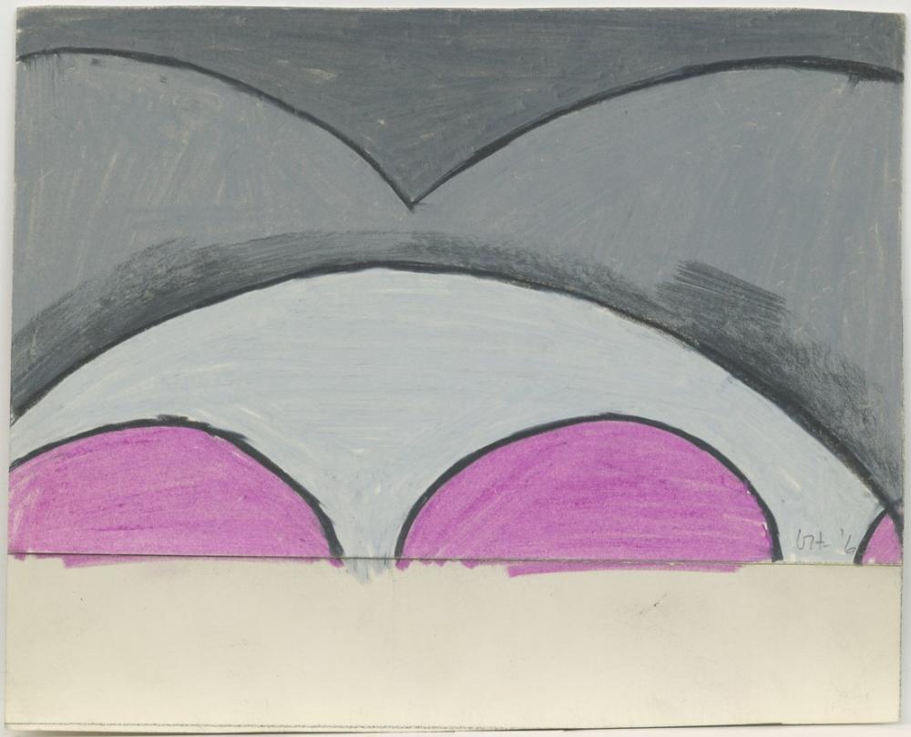 David Hockney, İsimsiz, Ubu Roi için Tasarım, Kanvas Tablo, David Hockney