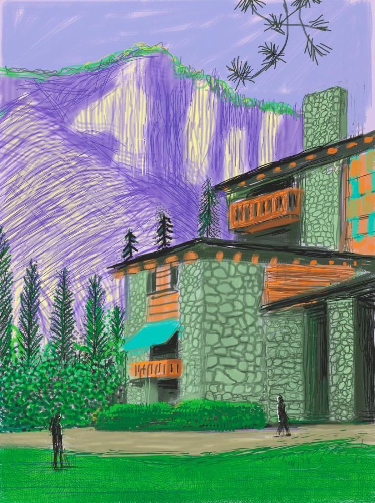 David Hockney, Yosemite Süitinden İsimsiz No 23, 2010, Figür, David Hockney