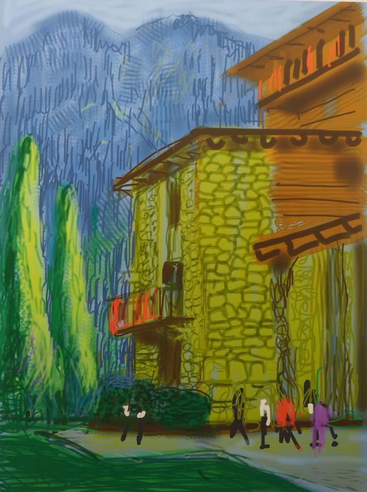 David Hockney, Untitled No 1 from the Yosemite Suite, 2010, Figure, David Hockney, kanvas tablo, canvas print sales