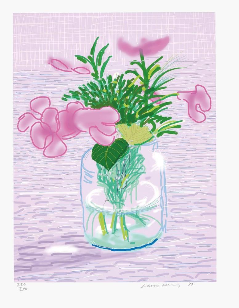 David Hockney, İsimsiz No 329, Figür, David Hockney