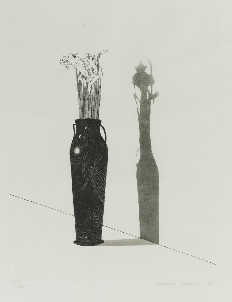 David Hockney, Vase and Flowers, Canvas, David Hockney, kanvas tablo, canvas print sales