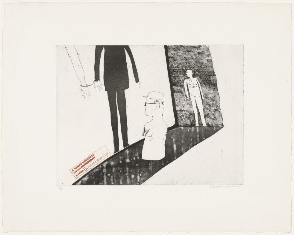 David Hockney, Bir Hapishane Sahnesini İzlerken, Figür, David Hockney