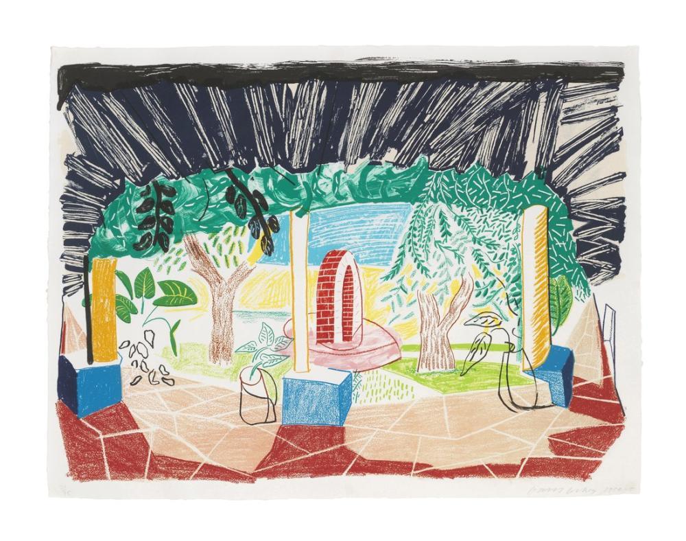 David Hockney, Hotel Well Görünümleri, Figür, David Hockney