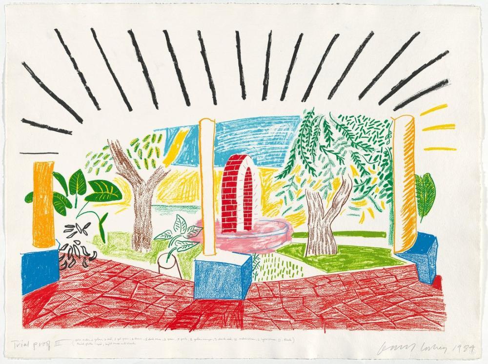 David Hockney, Hotel Well Görünümleri I 1984, Figür, David Hockney