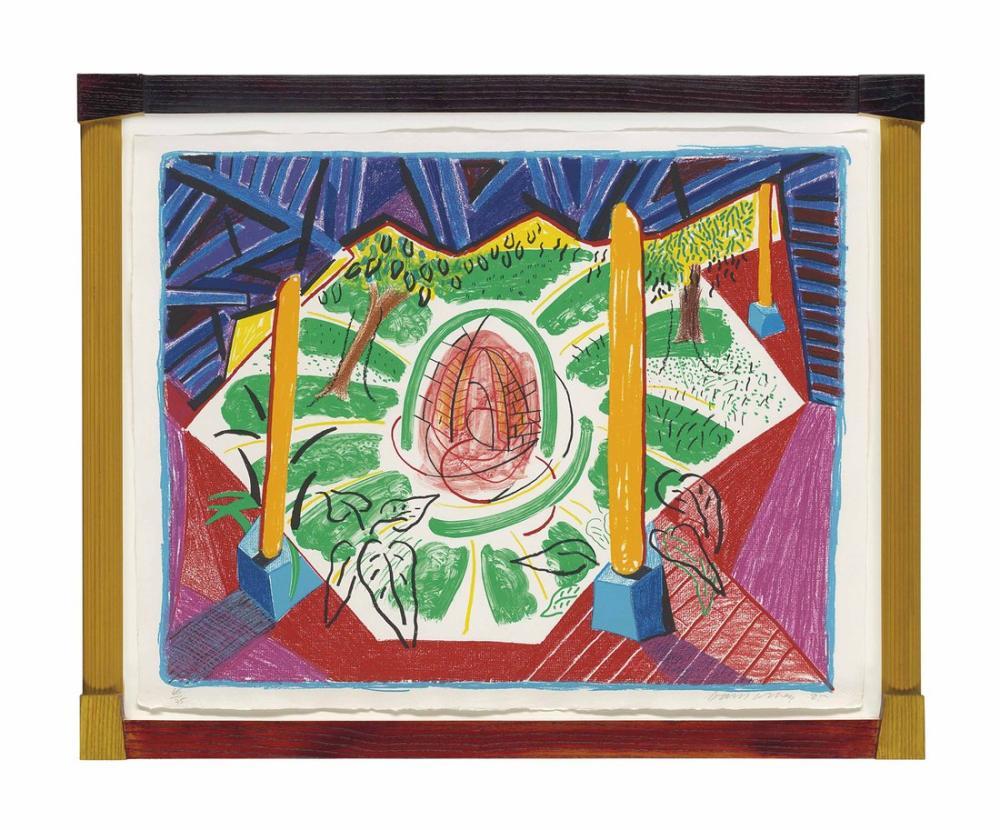 David Hockney, Hareketli Odaktan Hotel Well'in Görüntüleri II, Figür, David Hockney