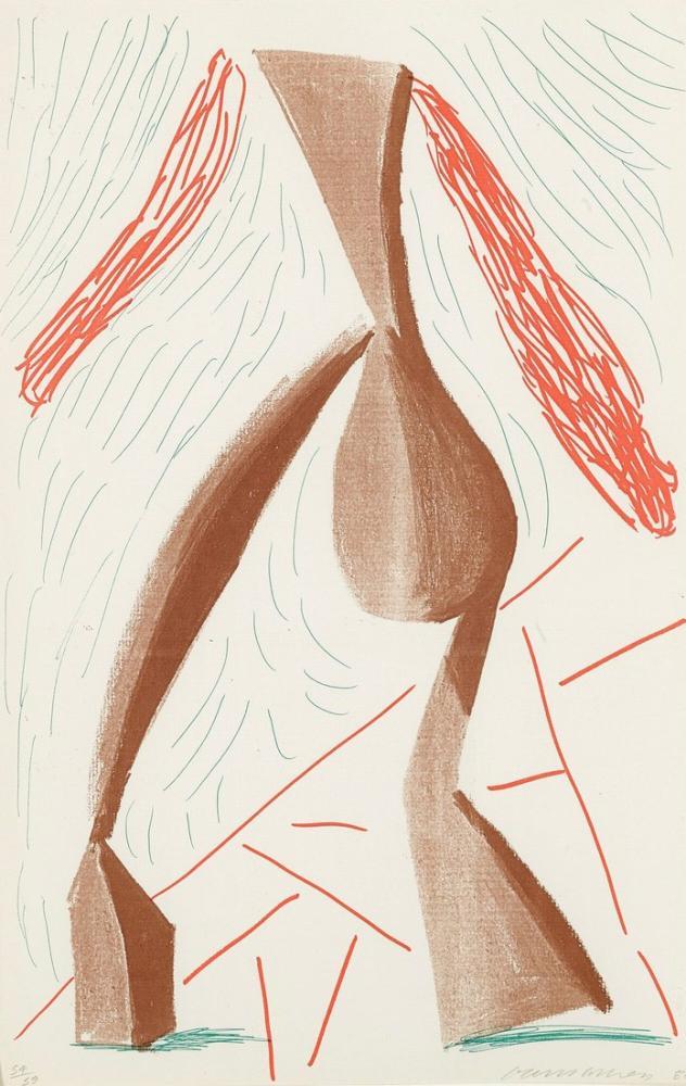 David Hockney, Yürüyüş, Figür, David Hockney