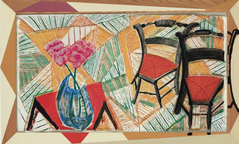 David Hockney, Walking Past Two Chairs, Figür, David Hockney