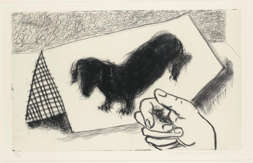 David Hockney, Duvar Köpeği, Etch, Figür, David Hockney