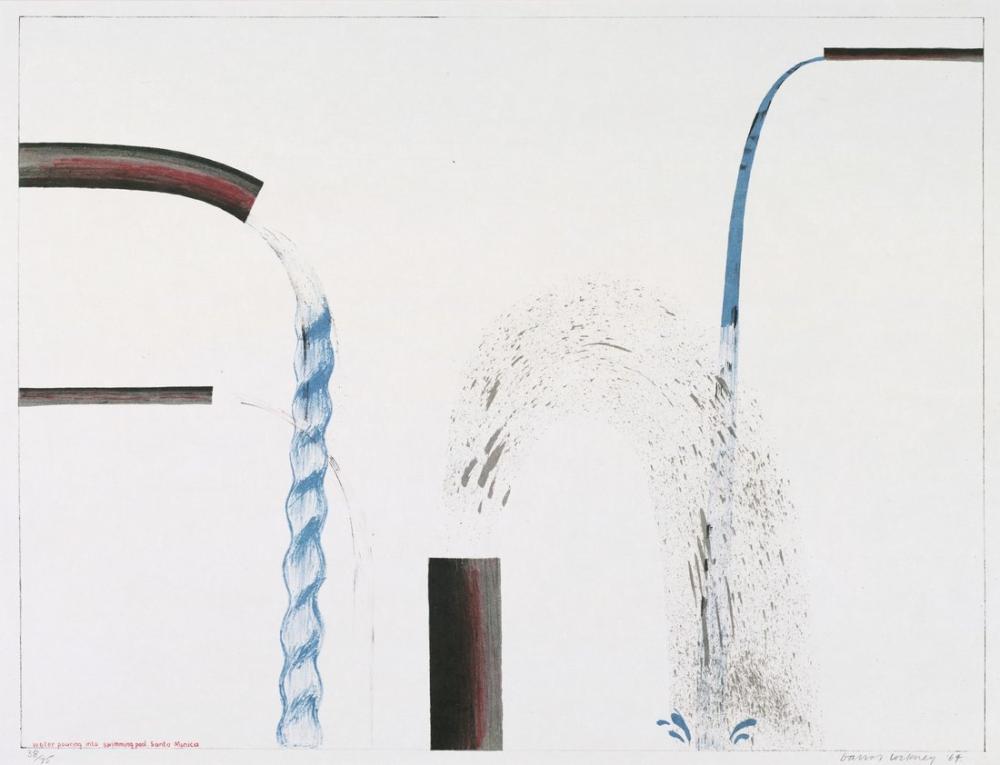 David Hockney, Yüzme Havuzuna Dökülen Su, Santa Monica, Figür, David Hockney