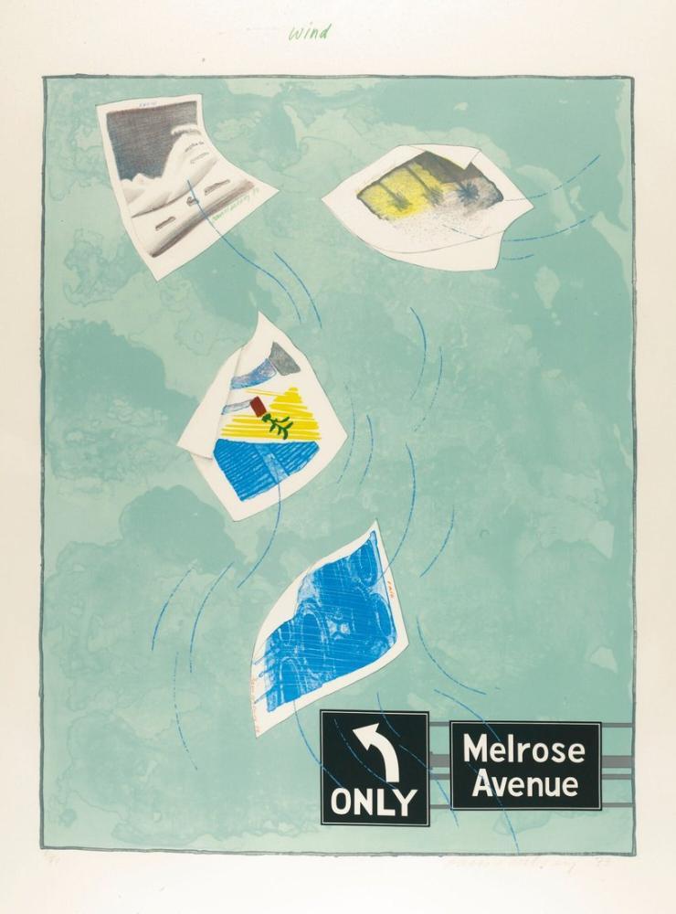 David Hockney, Rüzgar, Figür, David Hockney