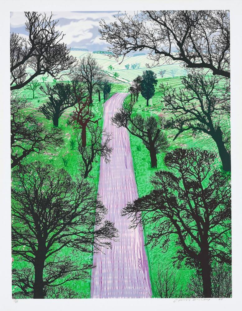 David Hockney, Kilham Yakınında Kış Yolu, Kanvas Tablo, David Hockney