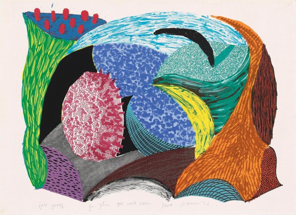 David Hockney, Mavi Asma Uçurum, Kanvas Tablo, David Hockney