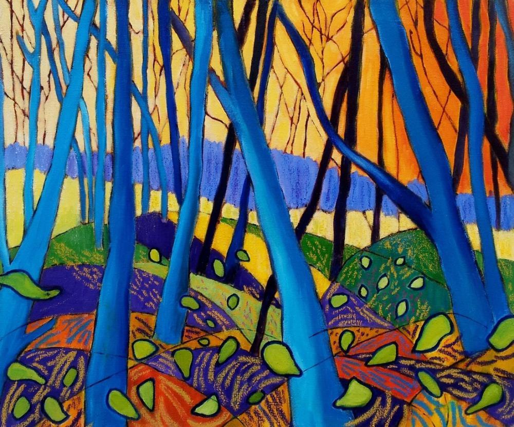 David Hockney, Kış Ağaçları, Kanvas Tablo, David Hockney