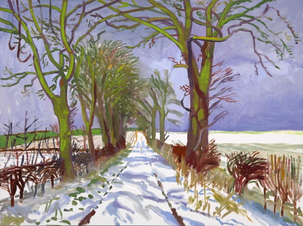 David Hockney, Winter Tunnel, Canvas, David Hockney, kanvas tablo, canvas print sales