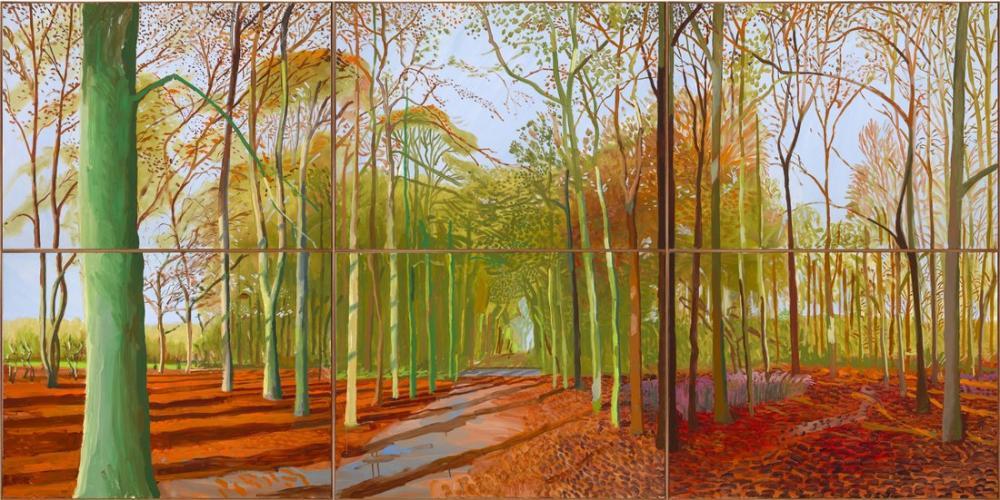 David Hockney, Woldgate Woods, Canvas, David Hockney, kanvas tablo, canvas print sales