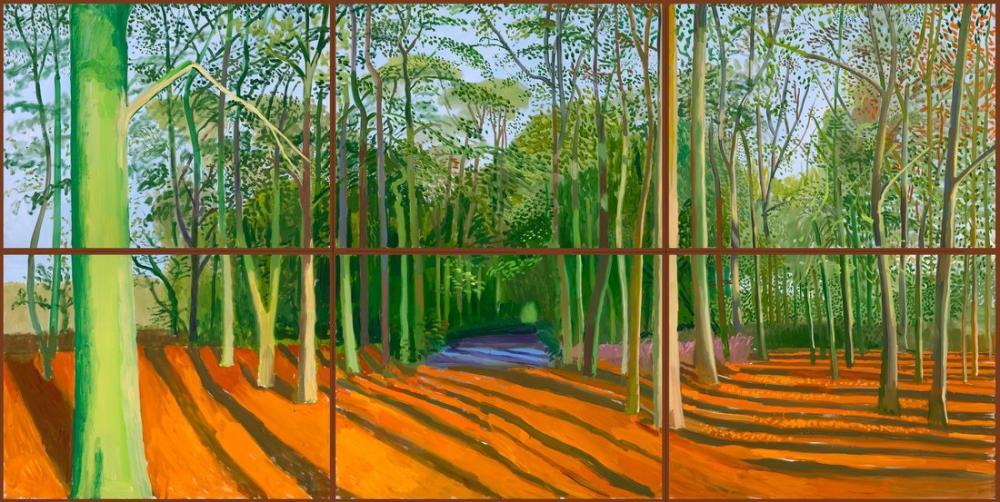 David Hockney, Woldgate Ormanları 6 9 Kasım, Kanvas Tablo, David Hockney