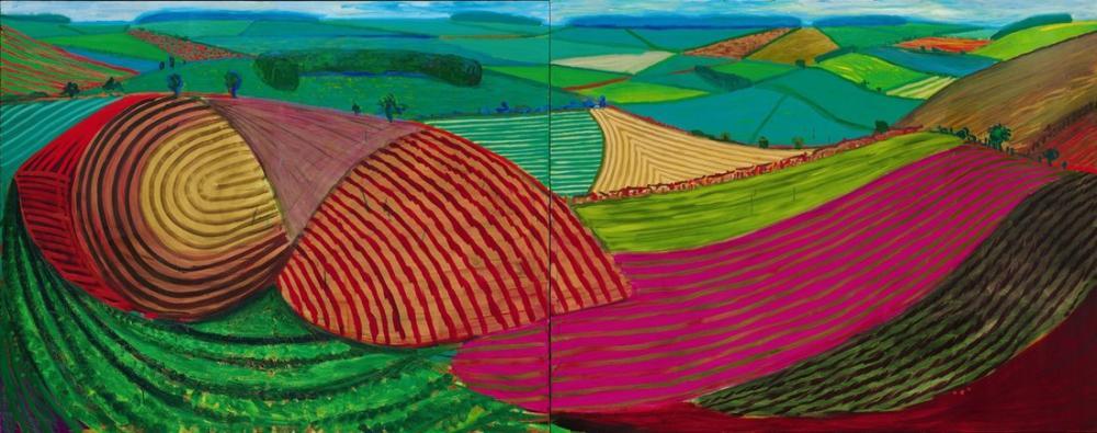 David Hockney, Yorkshire Landscapes, Canvas, David Hockney, kanvas tablo, canvas print sales