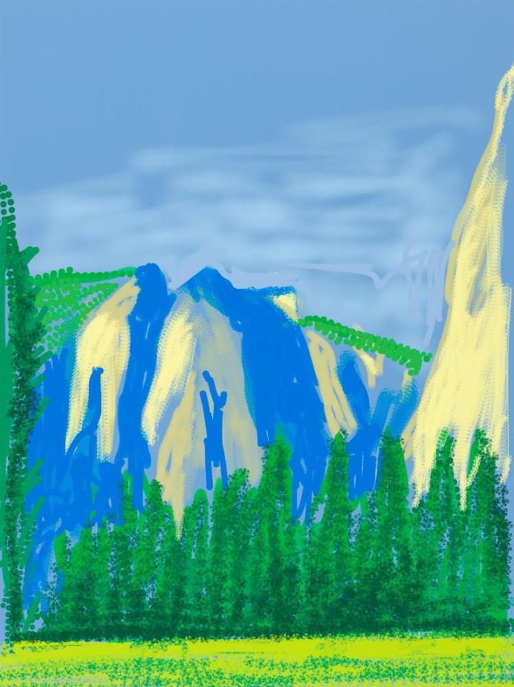 David Hockney, Yosemite ile iPad Art, Kanvas Tablo, David Hockney