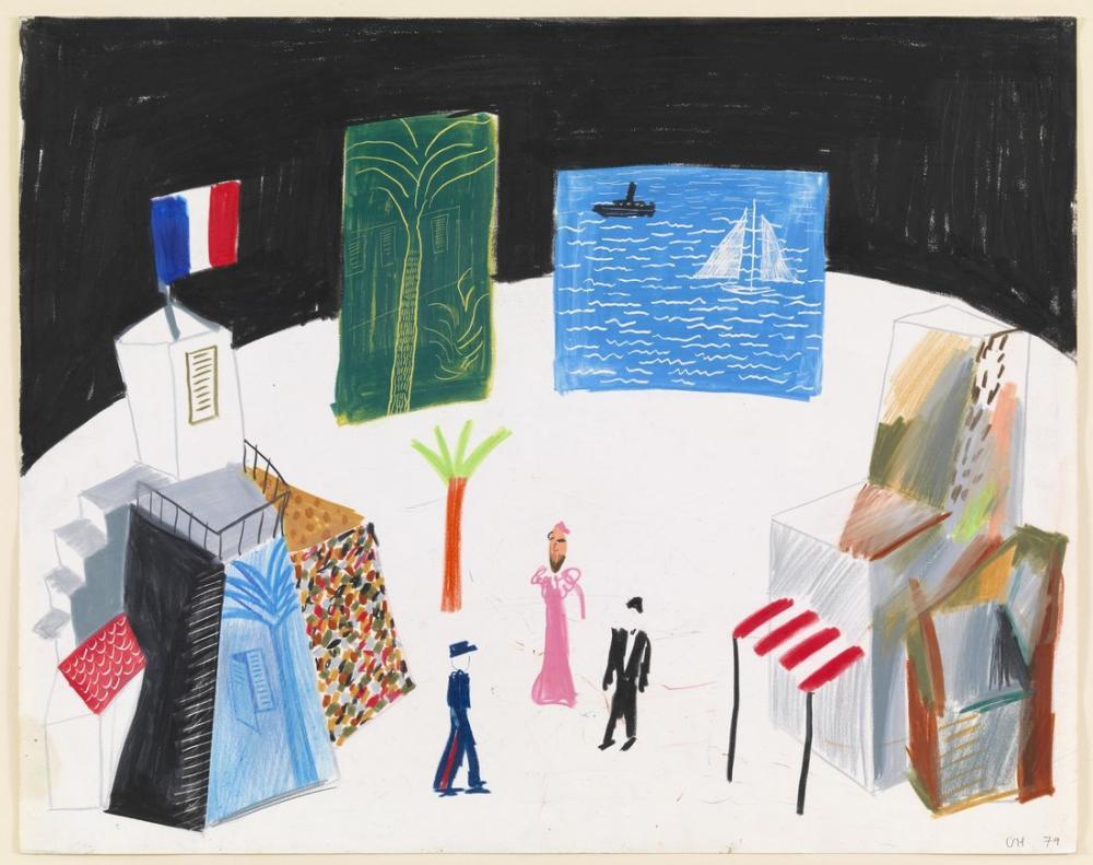 24x30, 40x50, 50x60 , 70x90 80x100 cm şablon, Kanvas Tablo, David Hockney, kanvas tablo, canvas print sales