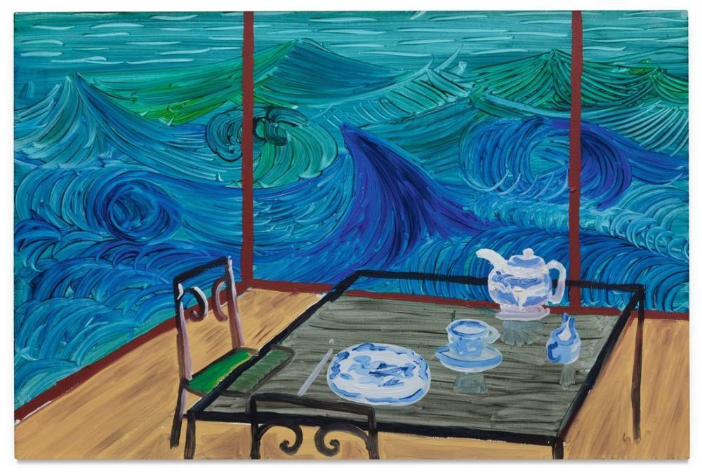 David Hockney, Malibu'da Kahvaltı, Kanvas Tablo, David Hockney