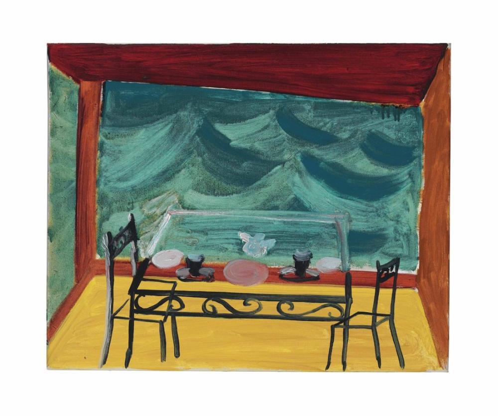 David Hockney, Breakfast by the Sea, Canvas, David Hockney, kanvas tablo, canvas print sales