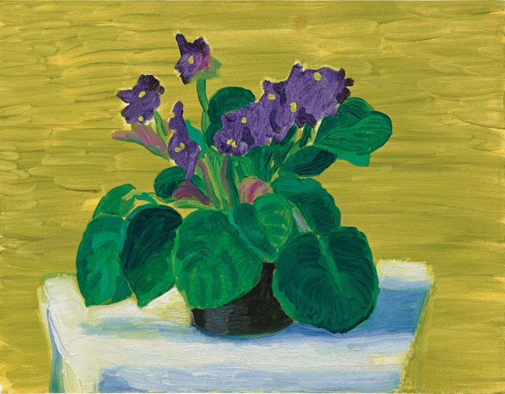 David Hockney, Bridlington Menekşeleri, Kanvas Tablo, David Hockney