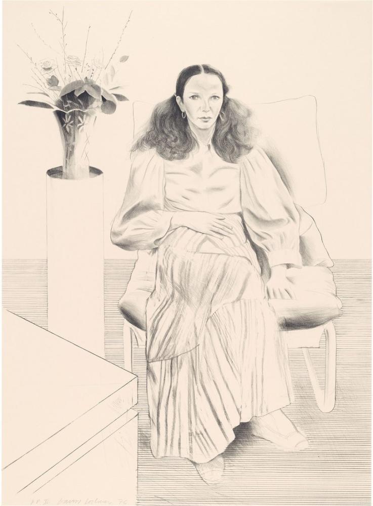 David Hockney, Brooke Hopper 1976, Figür, David Hockney