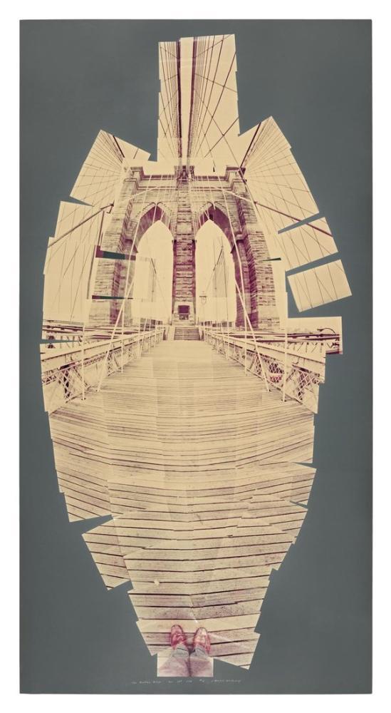 David Hockney, Brooklyn Köprüsü, Kanvas Tablo, David Hockney