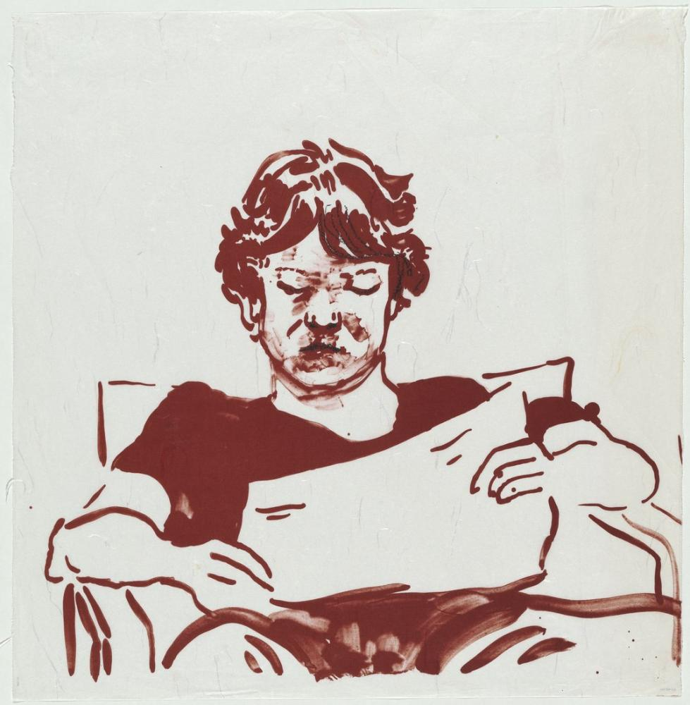 David Hockney, Byron Okuma, Figür, David Hockney