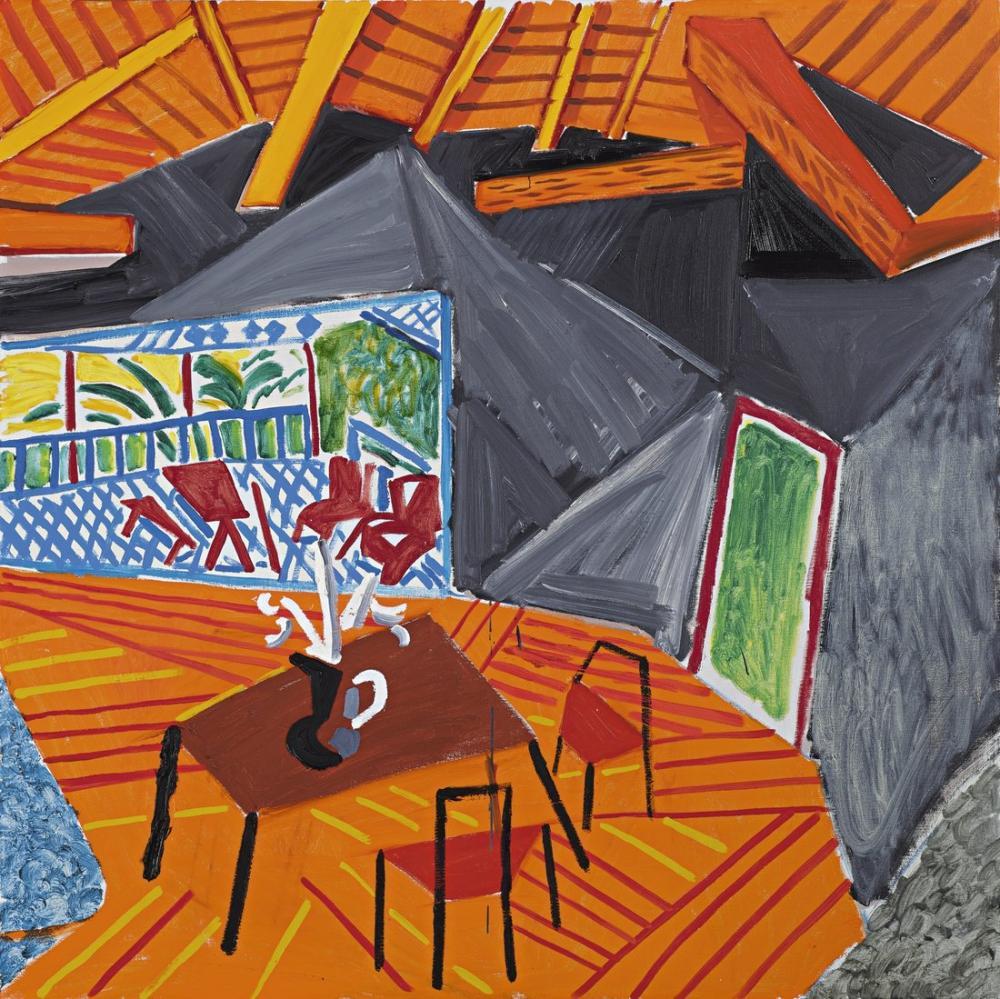 David Hockney, Kaliforniya İç, Figür, David Hockney