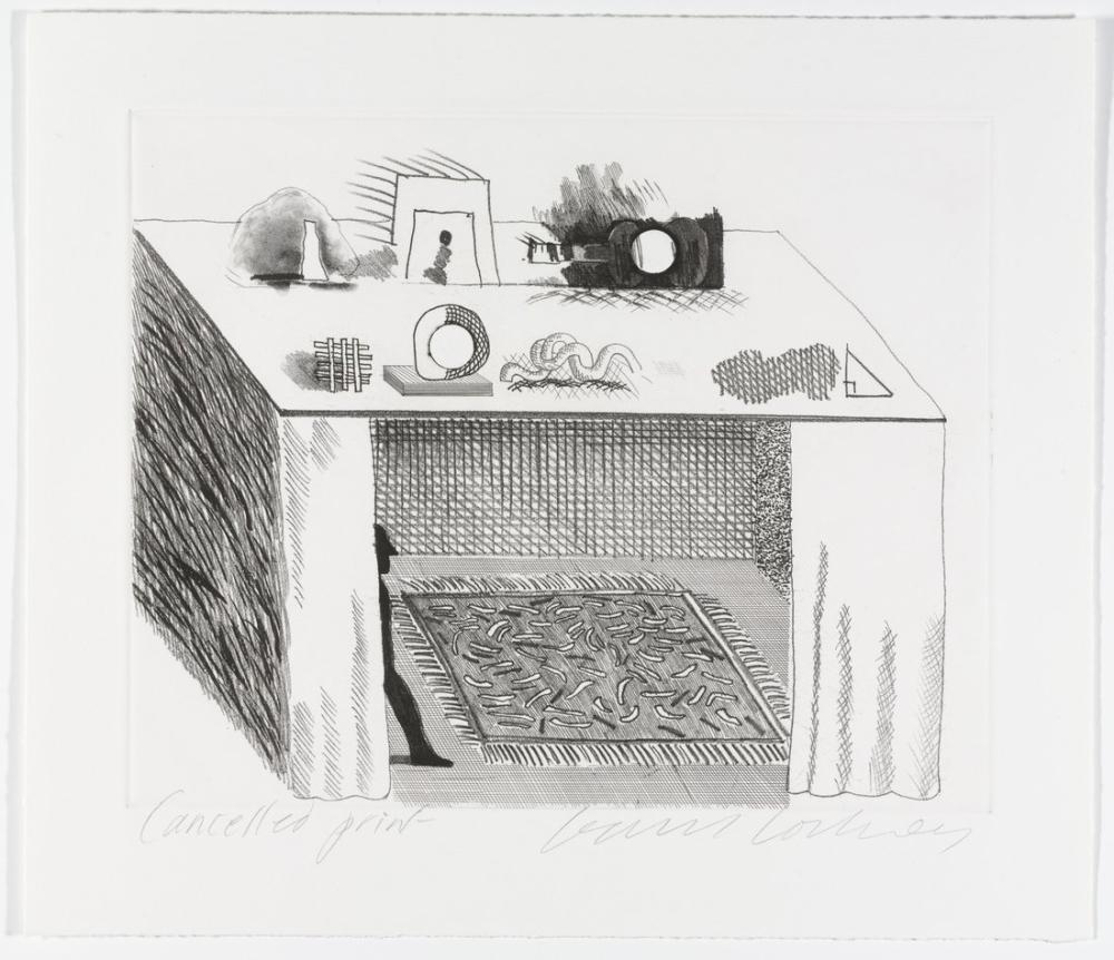 David Hockney, Chiaroscuro da The Blue Guitar dan İptal Kanıtı, Figür, David Hockney, kanvas tablo, canvas print sales