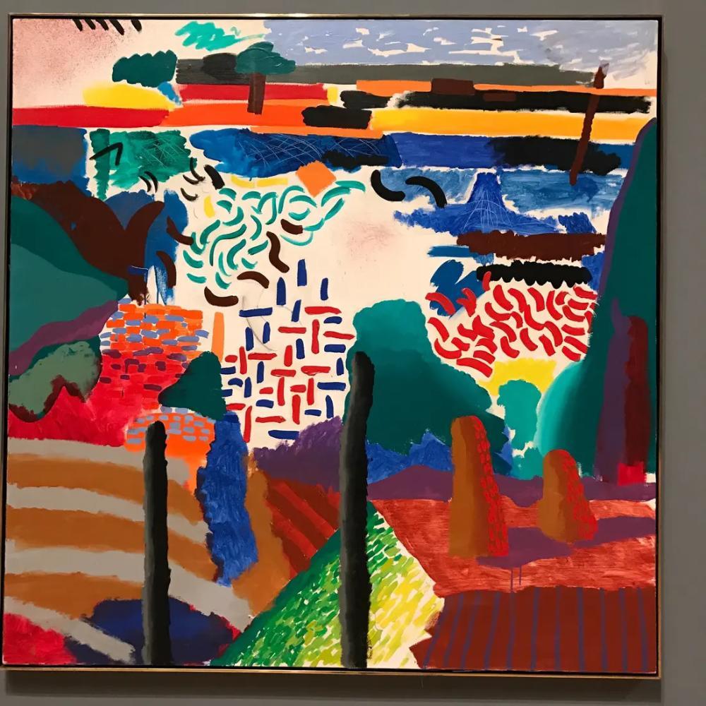 David Hockney, Kanyon, Kanvas Tablo, David Hockney