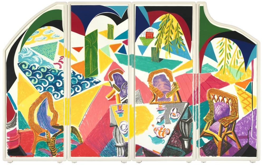 David Hockney, Karayip Çay Saati 1987, Figür, David Hockney