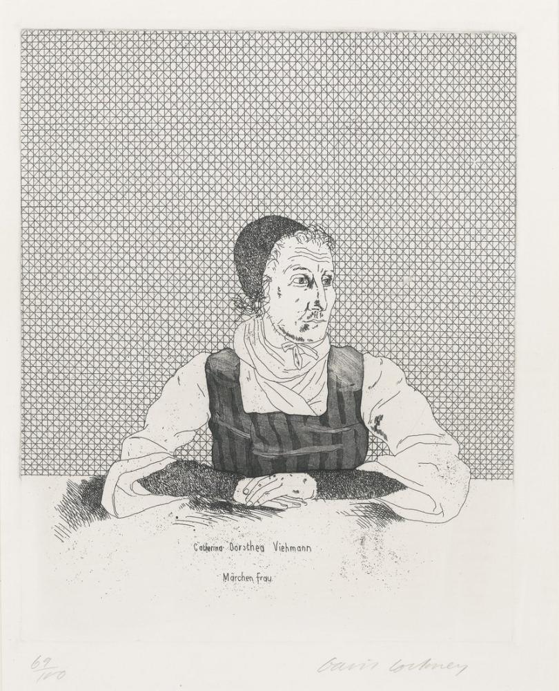 David Hockney, Catherina Dorothea, Figür, David Hockney, kanvas tablo, canvas print sales