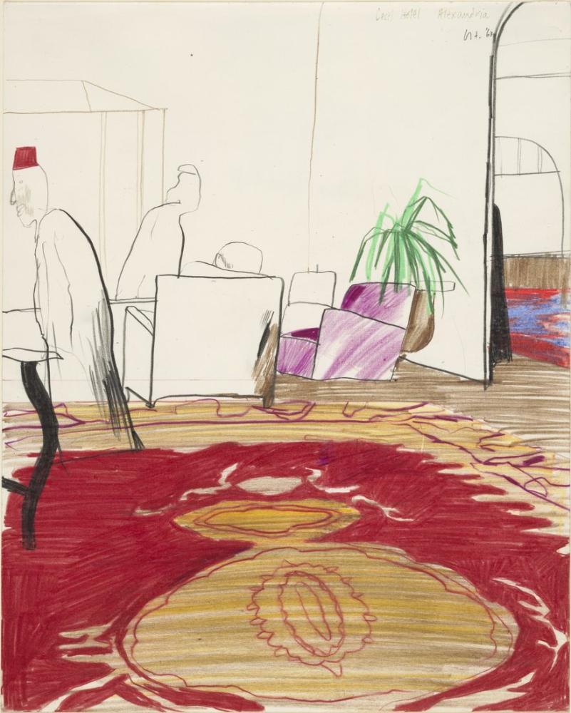 David Hockney, Cecil Hotel, Figür, David Hockney, kanvas tablo, canvas print sales