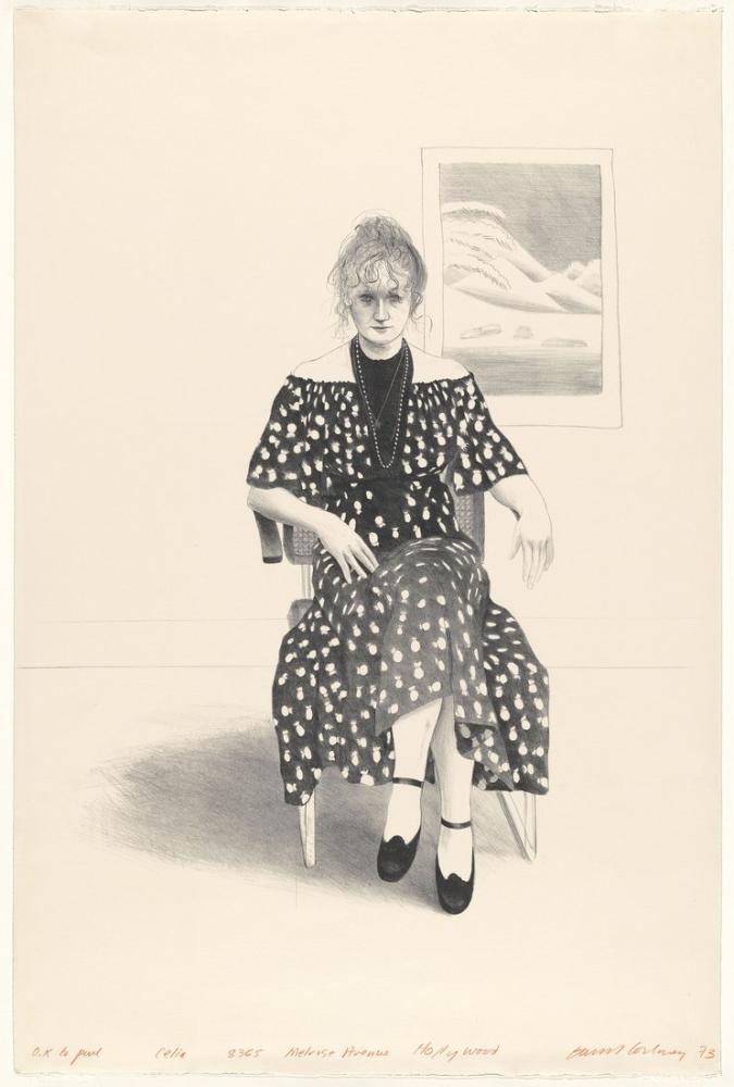 David Hockney, Celia, 8365 Melrose Bulvarı, Figür, David Hockney