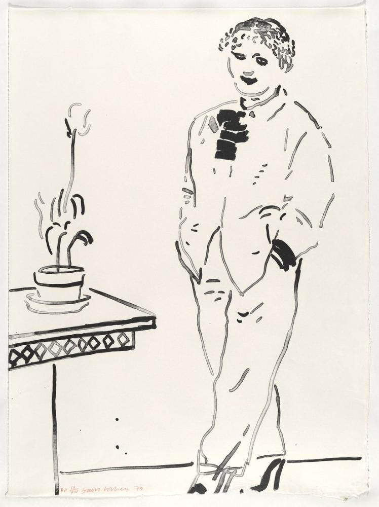David Hockney, Celia Eğlendirdi, Figür, David Hockney, kanvas tablo, canvas print sales