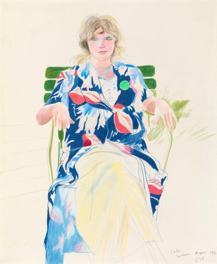 David Hockney, Celia, Carennac, Figure, David Hockney, kanvas tablo, canvas print sales