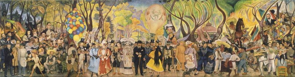 Diego Rivera, Dream of a Sunday Afternoon, Figure, Diego Rivera, kanvas tablo, canvas print sales