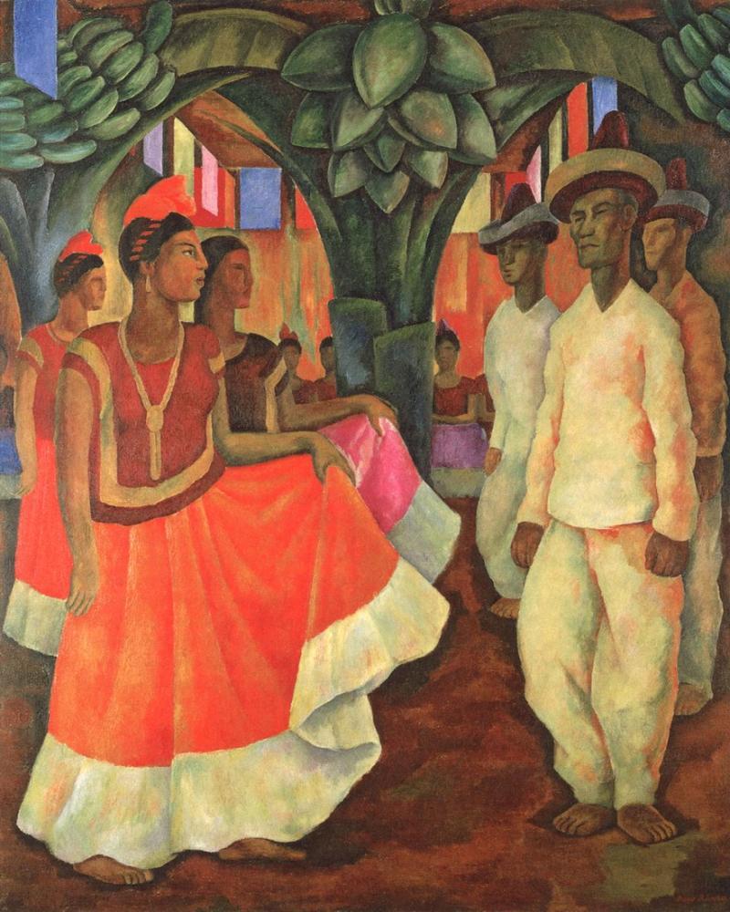 Diego Rivera, Dance in Tehuantepec, Figure, Diego Rivera, kanvas tablo, canvas print sales