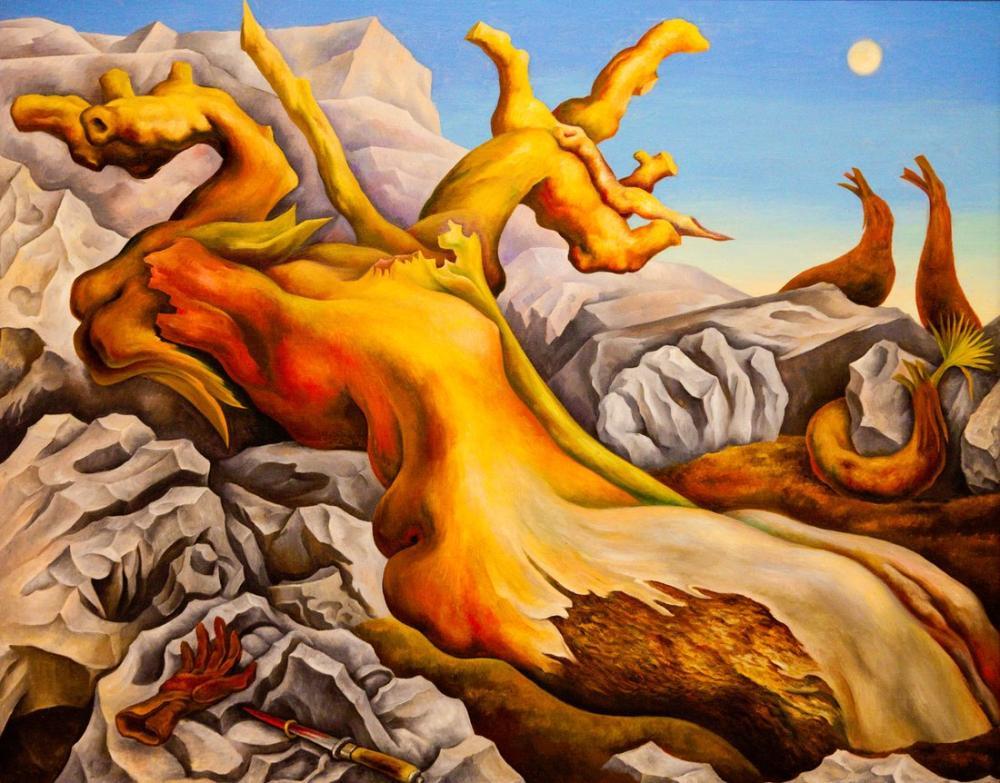 Diego Rivera, Sembolik Manzara, Figür, Diego Rivera, kanvas tablo, canvas print sales